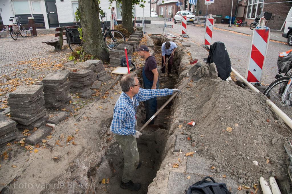 Kasteelmuur ontdekt in binnenstad